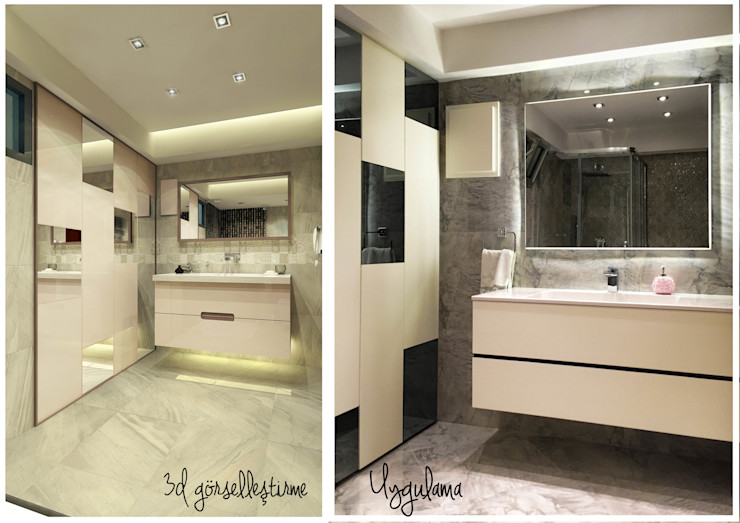 Ofis 352 Mimarlık Hizmetleri Modern bathroom Wood White
