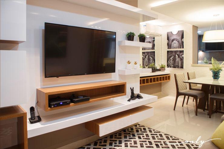 Apartamento N | H Only Design de Interiores Salas multimídia modernas