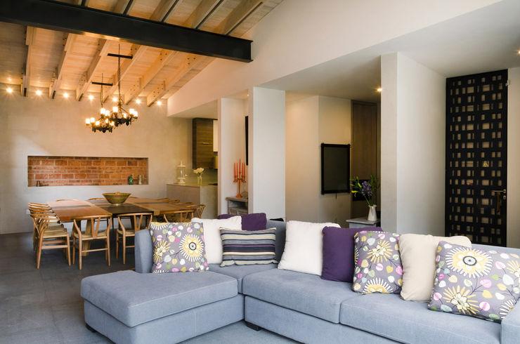 VMArquitectura Modern living room Concrete