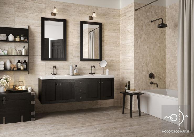 homify BathroomStorage Solid Wood Beige