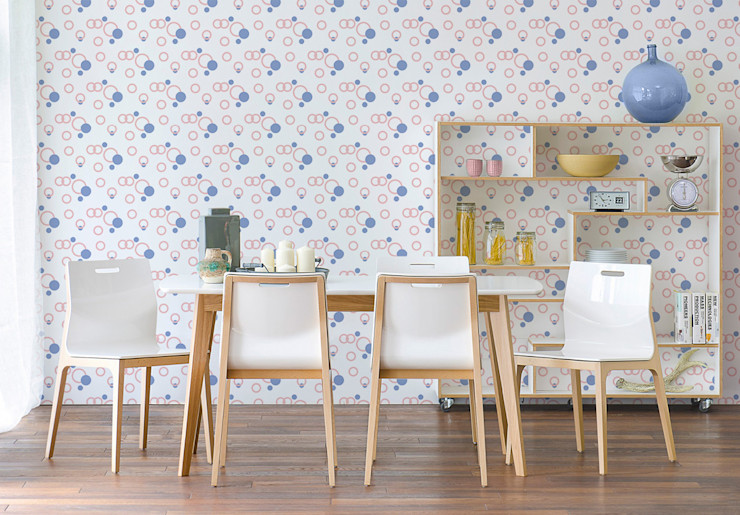 Geometric bubbles Pixers Modern dining room Multicolored