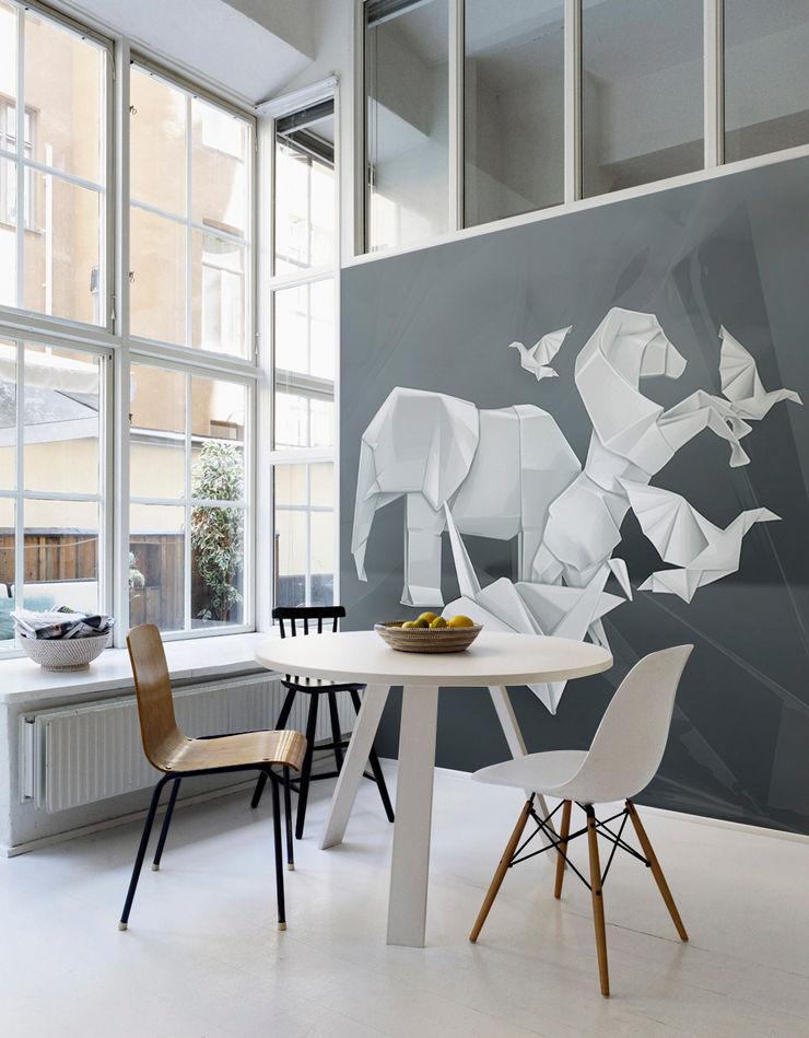Origami Animals Pixers Minimalist living room Multicolored