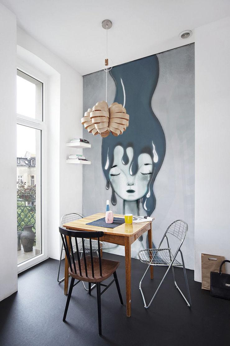 Gray Pixers Minimalist dining room Multicolored