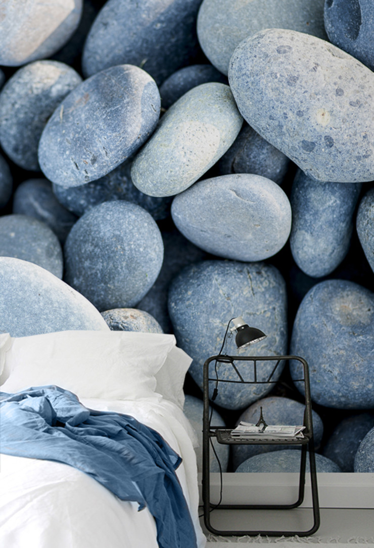 Mexican Pebbles Pixers Eclectic style bedroom Blue