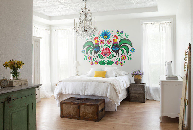 Folk Pixers Country style bedroom Multicolored