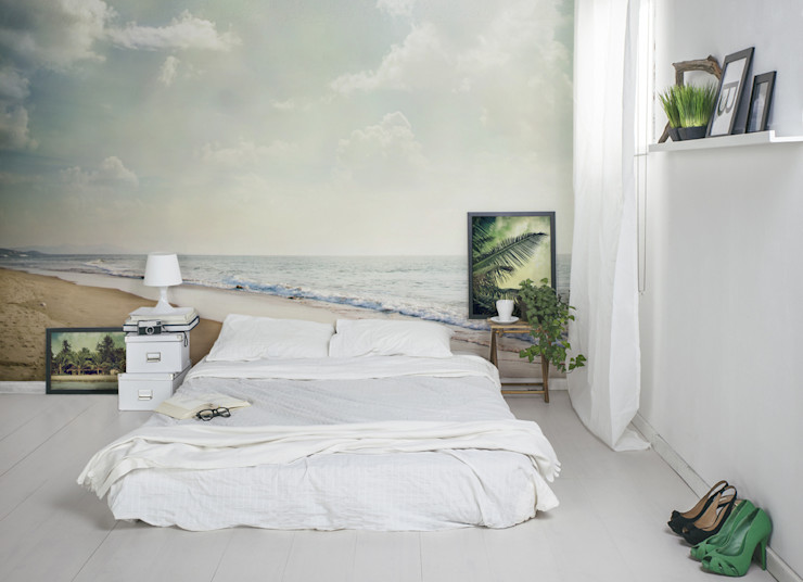 Sea Side Pixers Moderne Schlafzimmer Mehrfarbig