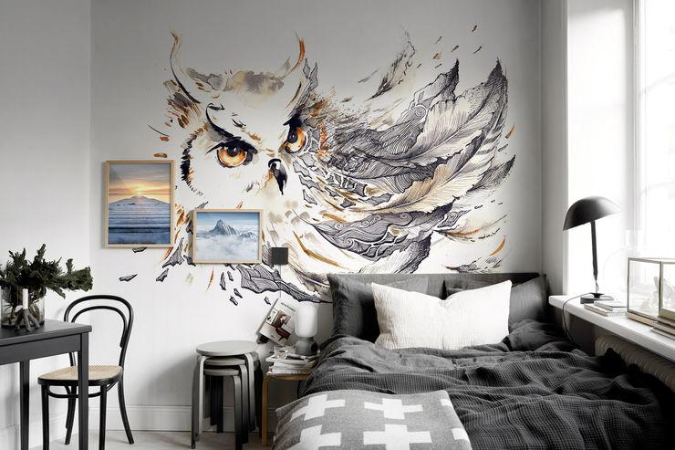 Owl Pixers Eclectic style bedroom Grey