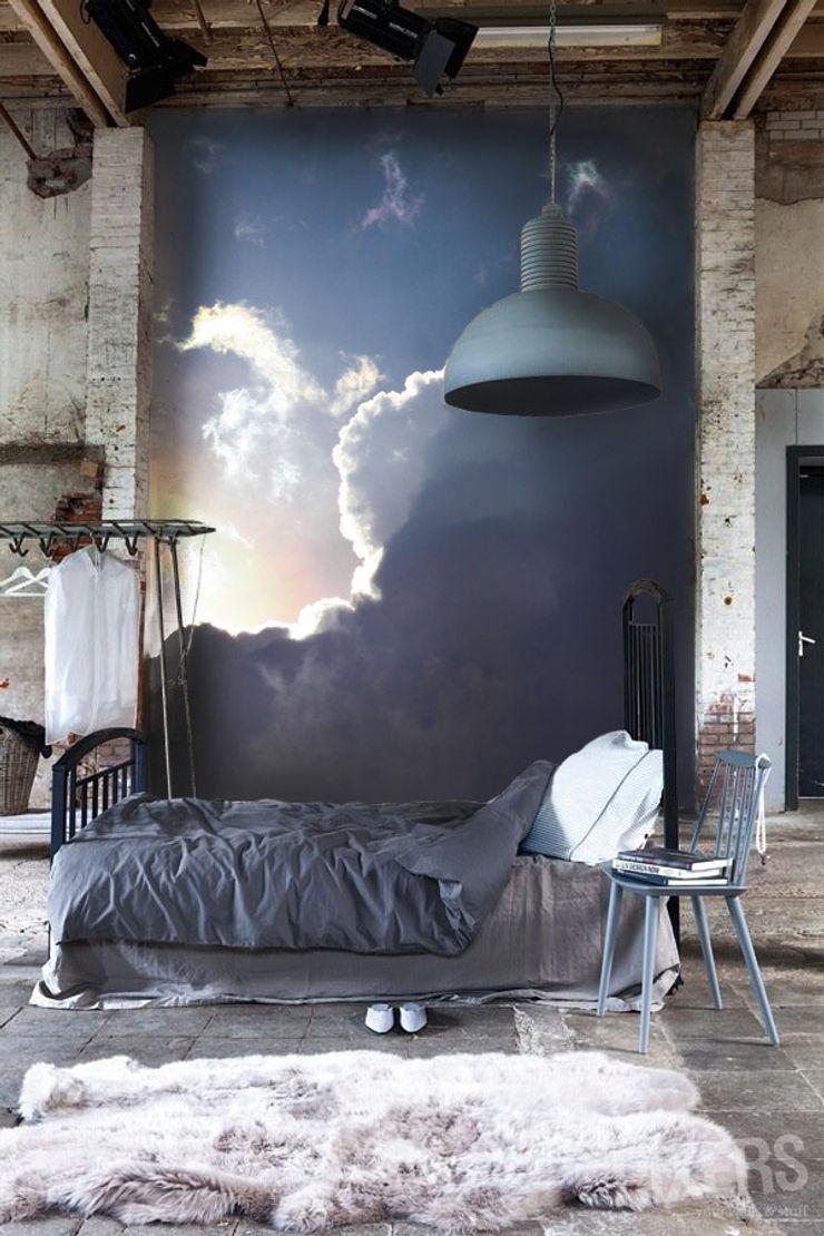 Clouds Pixers Industrial style bedroom Blue