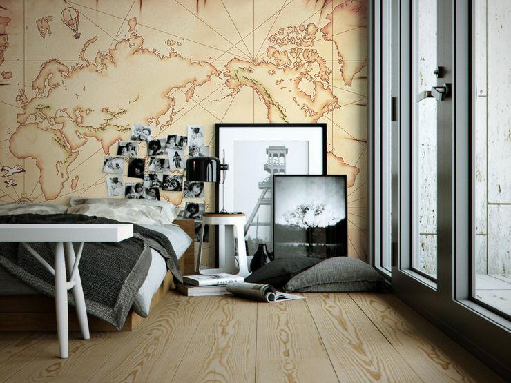 Treasure Map Pixers Eclectic style bedroom Beige