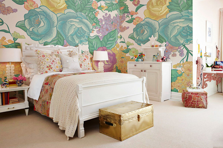 Shabby Chic Pixers Classic style bedroom Multicolored
