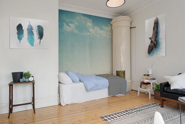 Blue skies Pixers Scandinavian style bedroom Blue