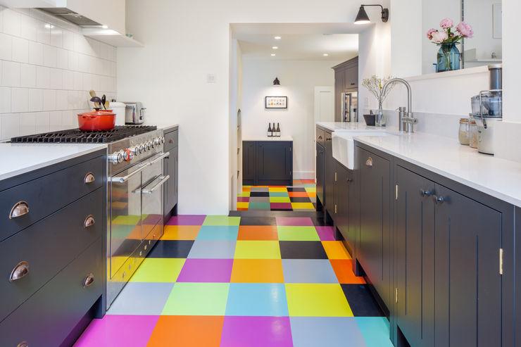 Kitchen deDraft Ltd Cocinas de estilo escandinavo Goma Multicolor
