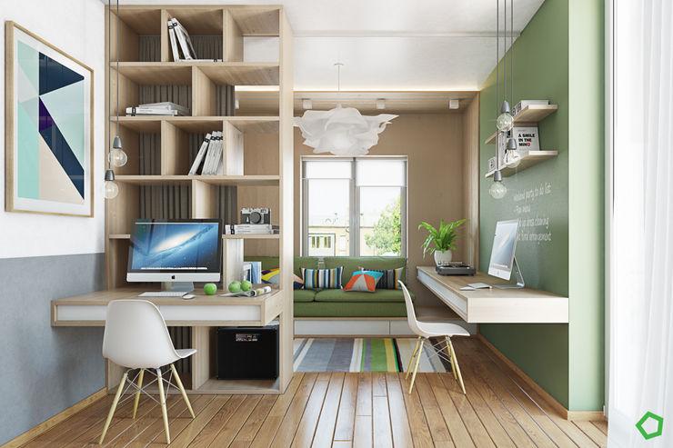 Polygon arch&des Minimalist study/office