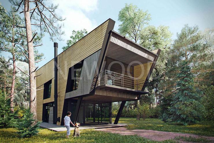 NEWOOD - Современные деревянные дома Rumah Modern Kayu Wood effect