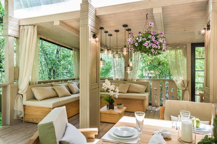 Летняя Веранда • Summer Terrace Tony House Interior Design & Decoration Балкон и веранда в стиле лофт