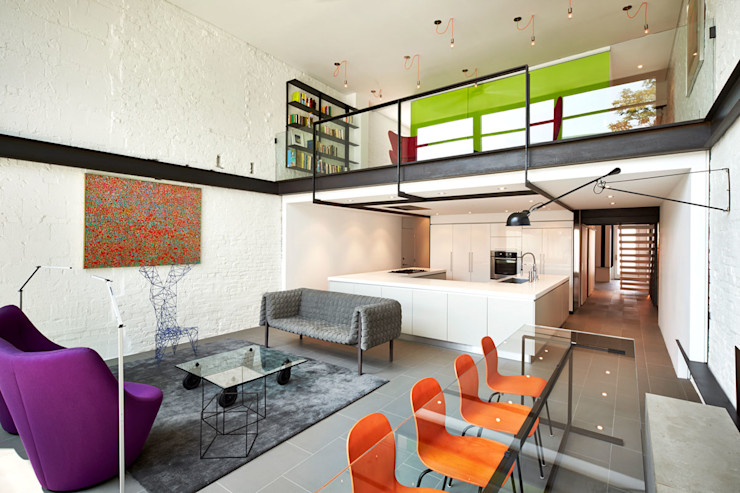 KUBE architecture Livings de estilo moderno