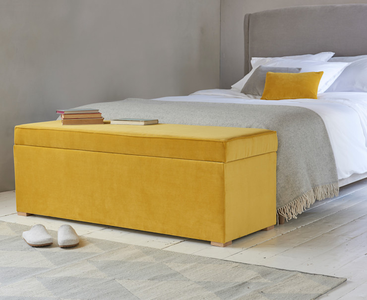 Eton Mess ottoman Loaf BedroomAccessories & decoration Textile Yellow