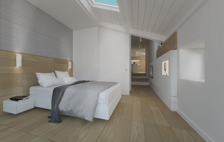 Camera da letto   Bedroom DomECO Camera da letto moderna Legno Bianco