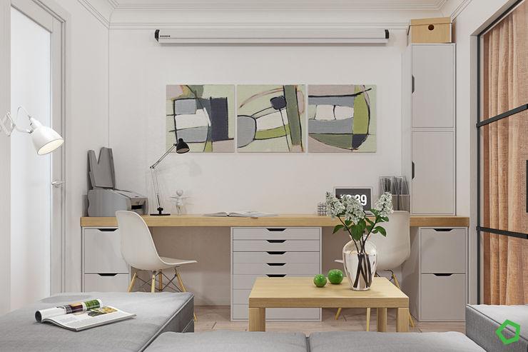 Polygon arch&des غرفة المعيشة