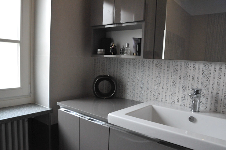 Casa Elfa ArchitetturaTerapia® Bagno moderno Grigio