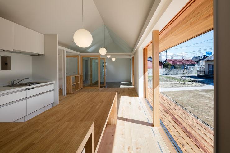 hm+architects 一級建築士事務所 餐廳 木頭 Wood effect