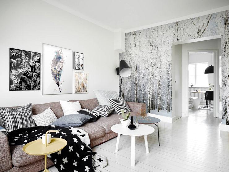 Cold Nature Pixers Phòng khách phong cách chiết trung Grey