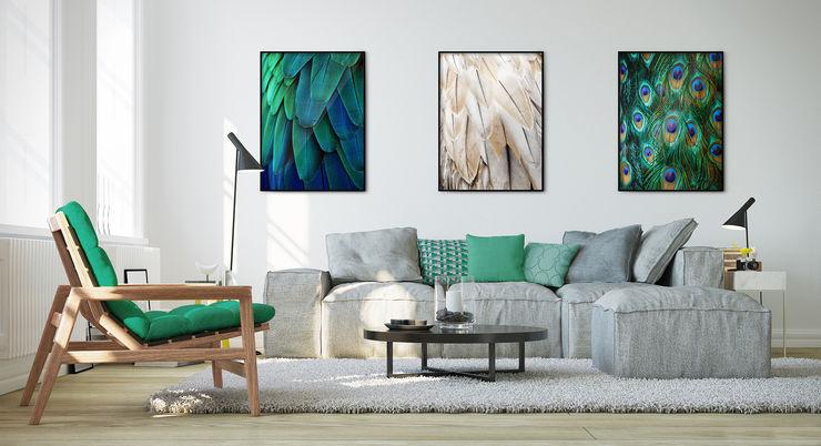 Gorgeous Feathers Pixers Ausgefallene Wohnzimmer Blau