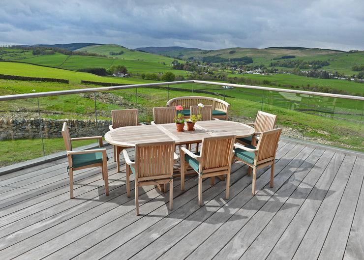 Three Glens, Dumfries Mark Waghorn Design Moderner Balkon, Veranda & Terrasse