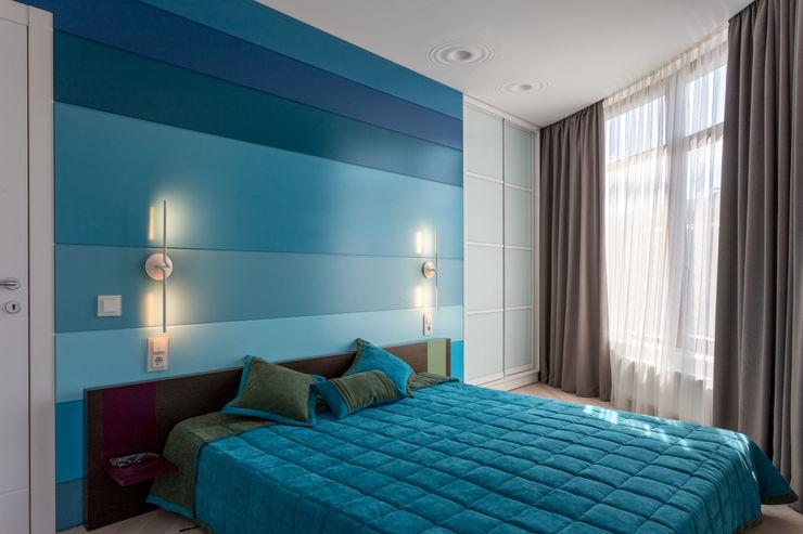 Bellarte interior studio Mediterranean style bedroom Turquoise