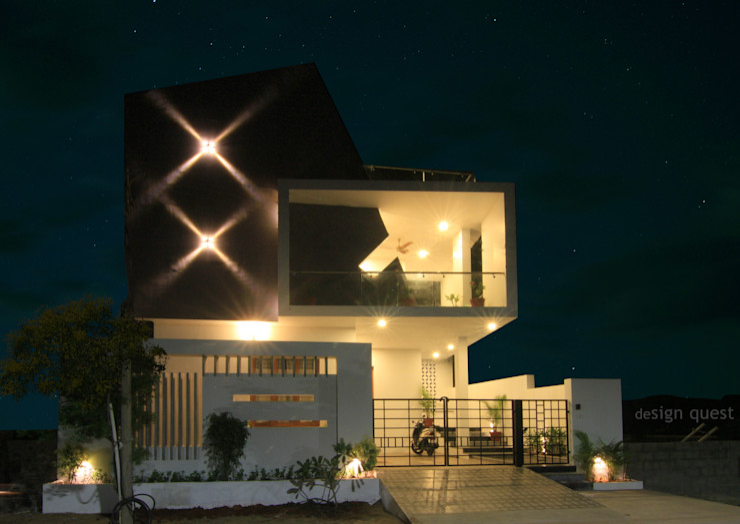 Gowrishankar Residence Design Quest Architects Modern houses Concrete