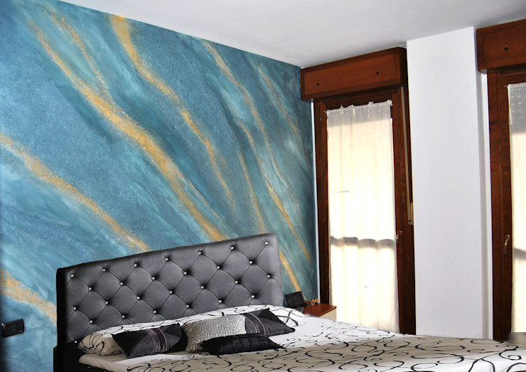Pietra Spaccata EdilDecorazioni Camera da letto moderna Ardesia Blu