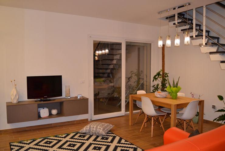 Officina design Modern dining room Wood effect