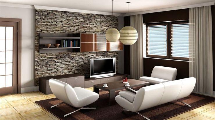 Innovate Interiors & Fabricators Salas de estilo asiático