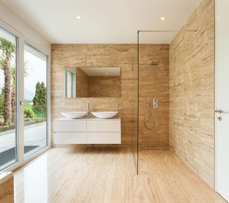 Designer Bathroom nassboards Salle de bain moderne Tuiles Beige