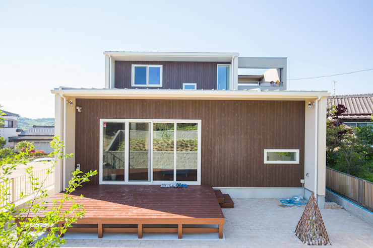 ナイトウタカシ建築設計事務所 Modern Houses Wood Wood effect