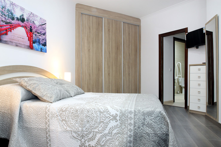 Loft Adaptado Platero Leiva_#LoftODB6 Mohedano Estudio de Arquitectura S.L.P. Dormitorios de estilo moderno