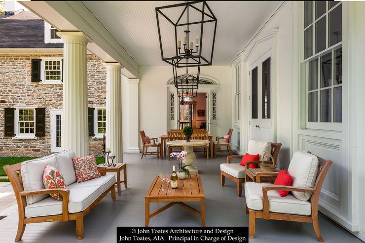 John Toates Architecture and Design Hiên, sân thượng phong cách kinh điển
