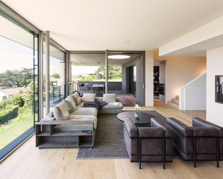 Objekt 340 / meier architekten meier architekten zürich Moderne Wohnzimmer Beige
