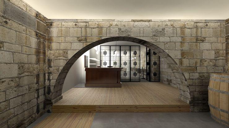 A3 Ateliê Academia de Arquitectura Modern wine cellar Granite