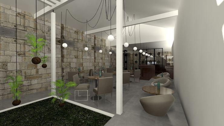 A3 Ateliê Academia de Arquitectura Modern living room Granite
