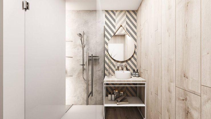 Mieszkanie Sosnowiec FOORMA Pracownia Architektury Wnętrz Nowoczesna łazienka
