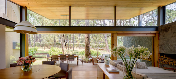 Weber Arquitectos Ruang Keluarga Modern
