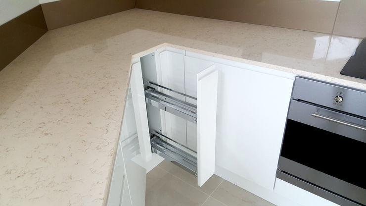 Internal Storage Meridien Interiors Ltd Modern kitchen