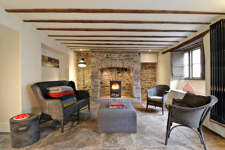 Miner's Cottage I Living Room design storey Eclectic style living room