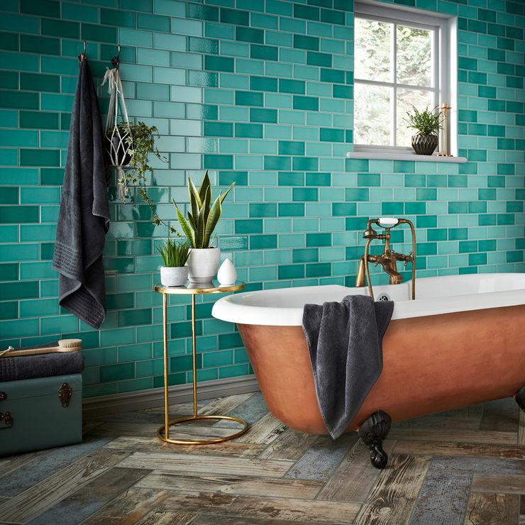 Teal Antique Crackle Metro Tiles Walls and Floors Ltd Walls & flooringWall & floor coverings Ceramic Turquoise
