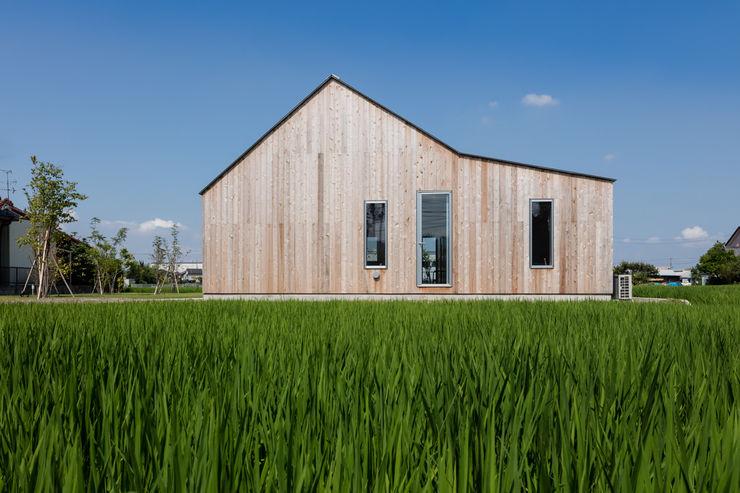 東ファサード/夏 hm+architects 一級建築士事務所 オリジナルな 家 木 木目調