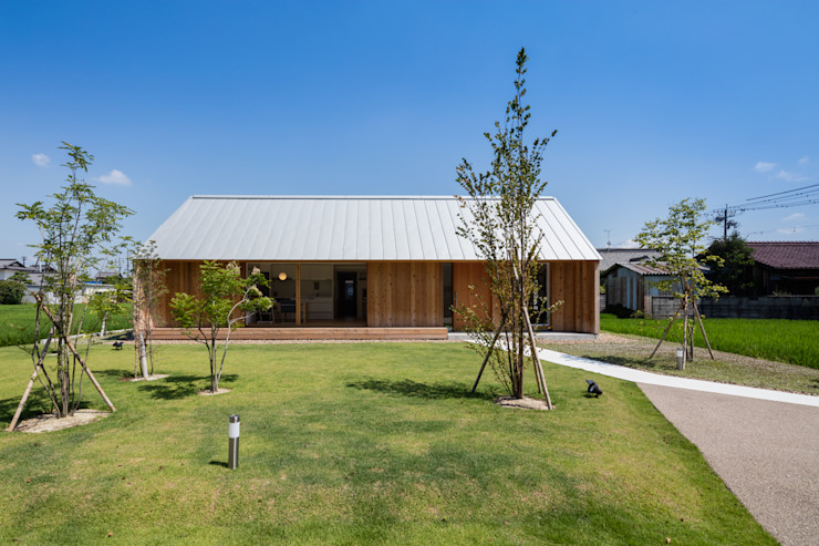 hm+architects 一級建築士事務所 Eclectic style houses Wood