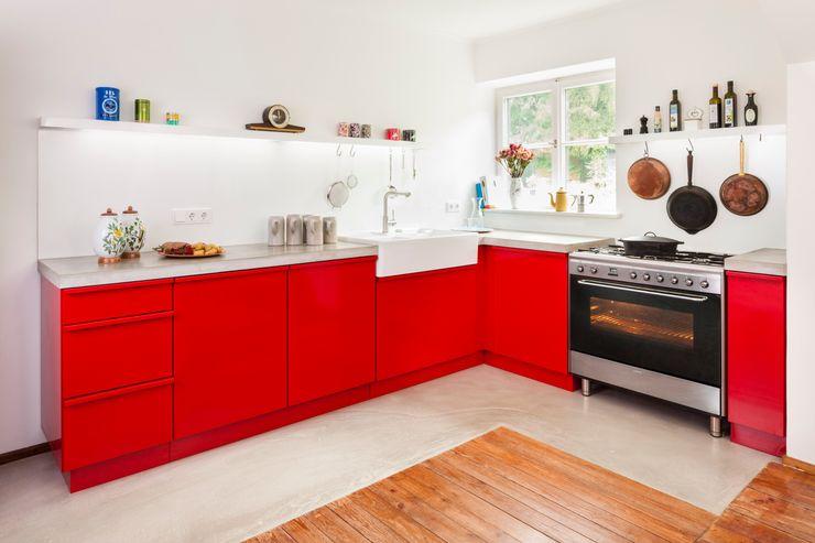 Popstahl Küchen Modern Kitchen Iron/Steel Red
