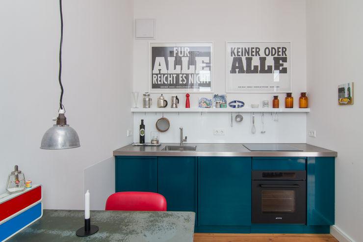 Popstahl Küchen Modern Kitchen Iron/Steel Blue