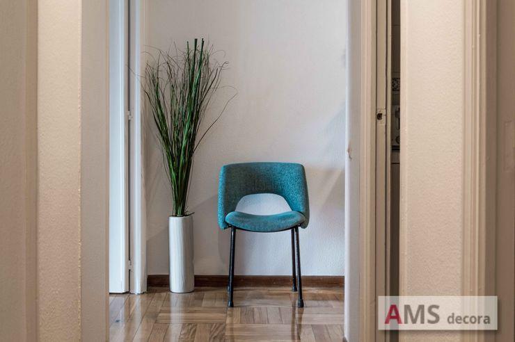 AMS decora 복도, 현관 & 계단의자 및 소파 파랑